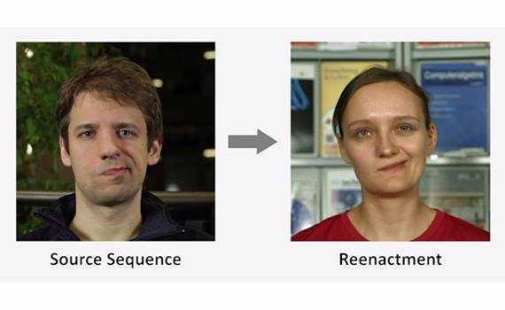Artificial Intelligence transfers facial expressions from one video to another
