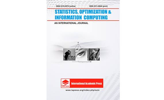 "The article of Institute scientists was published in the Journal of ""Statistics, Optimization & Information Computing"""
