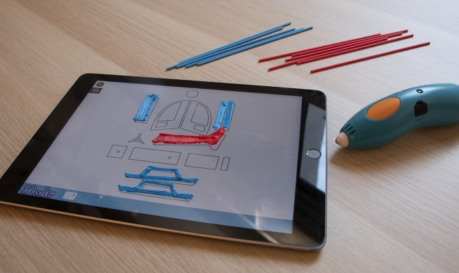 3Doodler application turns the screen of the tablet into a canvas for three-dimensional map
