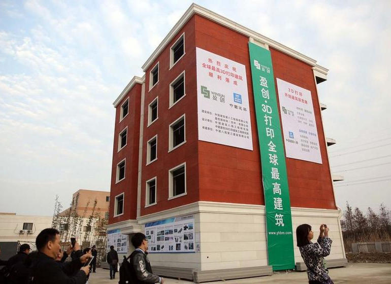 World's first 3D-printed apartment building constructed in China