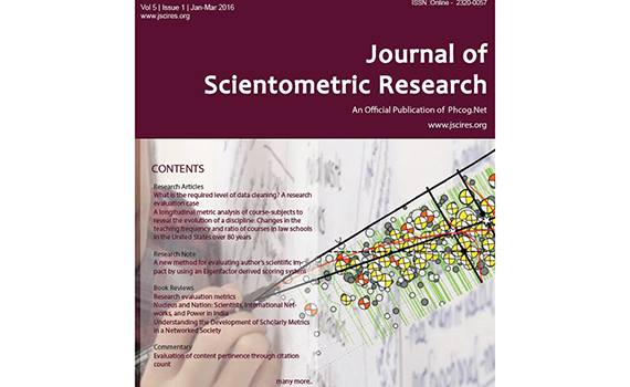 Article of the Institute published in Journal of Scientometric Research