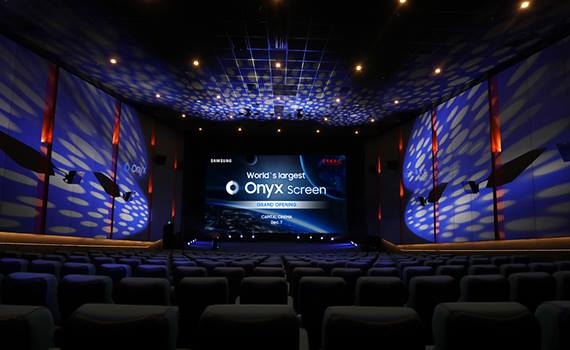Samsung introduced the world's largest LED-screen for movie theaters