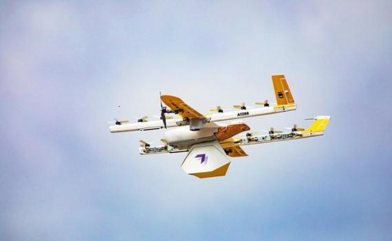 """""""Wing"""" şirkətinin dronları bağlamaları evlərə çatdırır"""