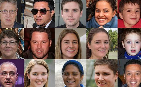 Neural network learned how to create photographs of non-existent people