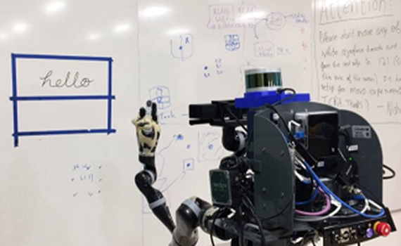 The robot has learned to copy human handwriting and drawings