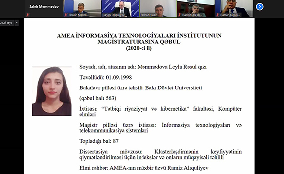 Magistrantların dissertasiya mövzuları ilə bağlı müzakirələr aparıldı