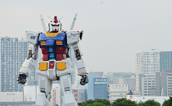 A robot from the anime Gundam will be built