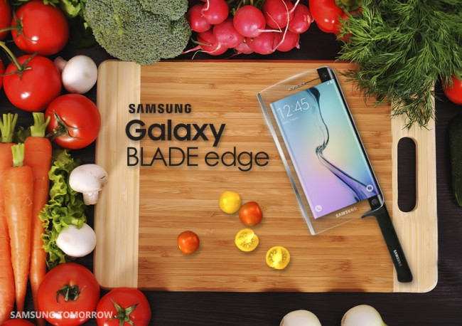Samsung reveals galaxy blade edge
