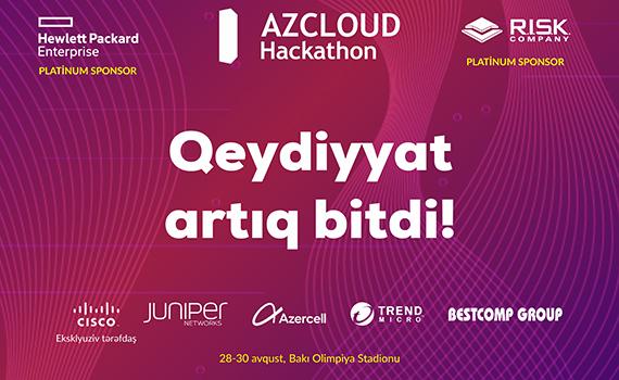 Названия команд, которые примут участие в AZCLOUD Hackathon 2019, будут обнародованы 8 августа