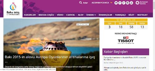 Birinci Avropa Oyunlarının açılış mərasimini az.baku2015.com saytında canlı izləmək mümkün olacaq