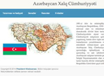 """The People's Republic of Azerbaijan"" presented to the Internet users"
