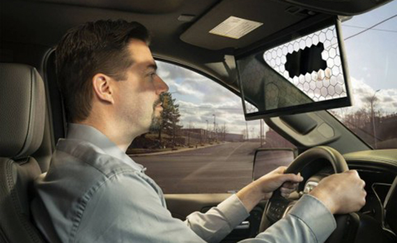 Bosch introduced a smart visor to protect the driver from the sun