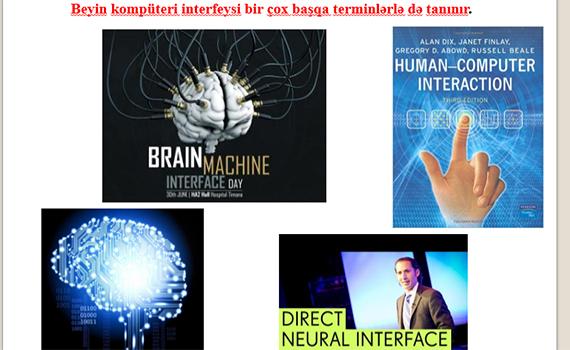 Beyin-kompüter interfeysi sahəsində araşdırmalar aparılır