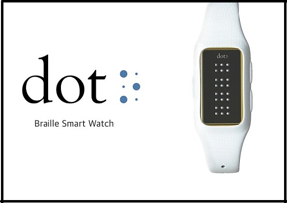 Braille smartwatch lets blind read texts