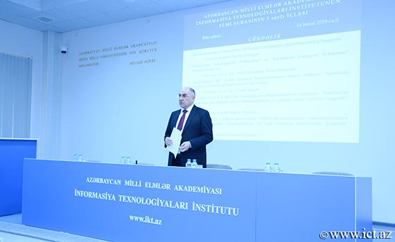 """Akademik Rasim Əliquliyev: """"İnstitutun elmi-nəzəri fəaliyyəti gücləndirilməlidir"""""""