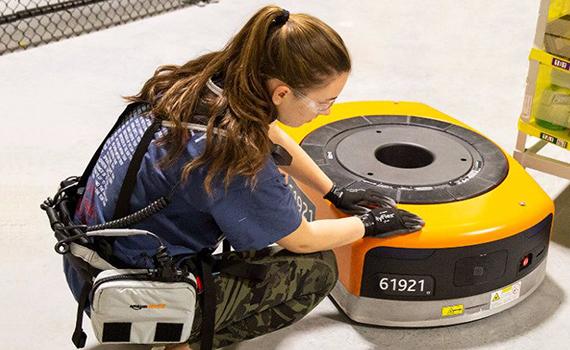 Amazon robots identify humans by e-vest signal