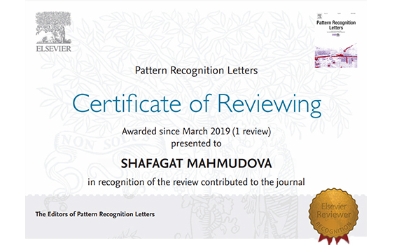 """Employee of the institute awarded with a reviewer's certificate of the journal included in the """"Elsevier"""""""