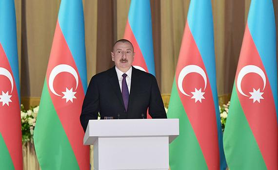 Ильхам Алиев принял участие в официальном приеме, организованном по случаю 28 Мая – Дня Республики