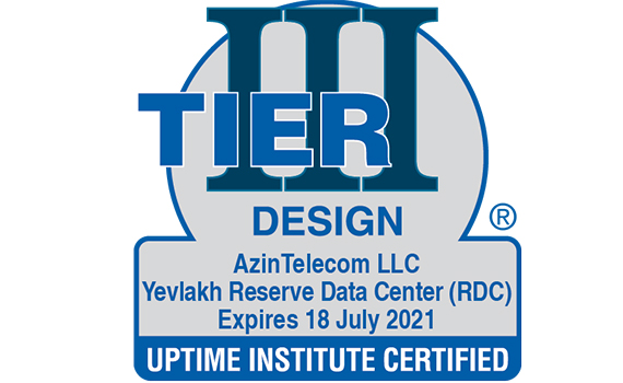 TIER 3 certificate received for backup Data Center built in Yevlakh