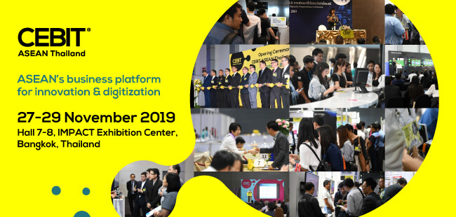 CeBIT Asean Thailand 2019 -  international exhibition of digital technologies and festivals