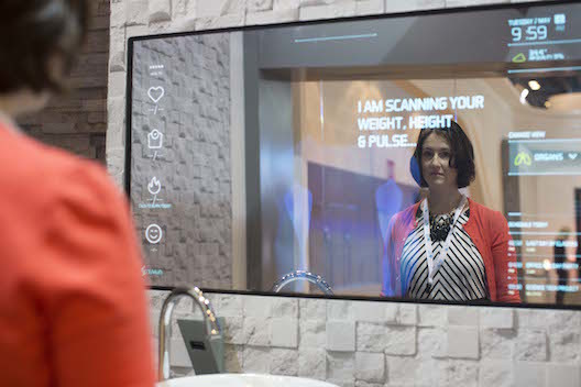A smart mirror to promote a healthy lifestyle