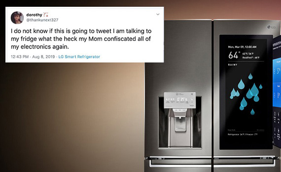 In the US, a teenage girl logged onto Twitter with a smart fridge