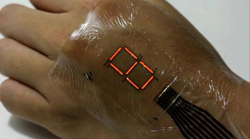 E-skin – dəri üzərində rəqəmsal displey