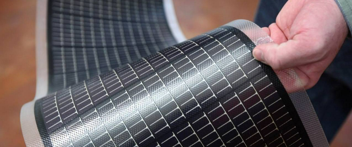 Created fabric with embedded solar panels