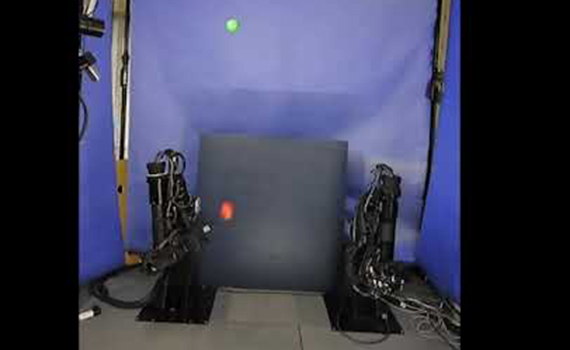 See how two robot hands juggle balls in pairs