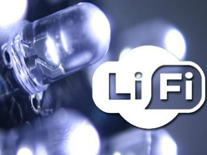 Data to be transmitted via Li-Fi