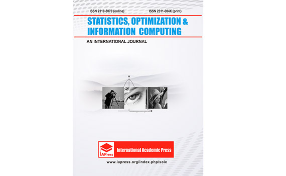 Article of the Institute staff published in Statistics, Optimization and Information Computing journal