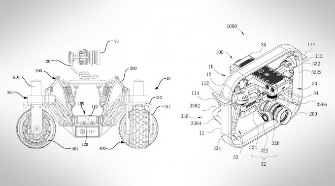 DJI patented its first ground-based drone