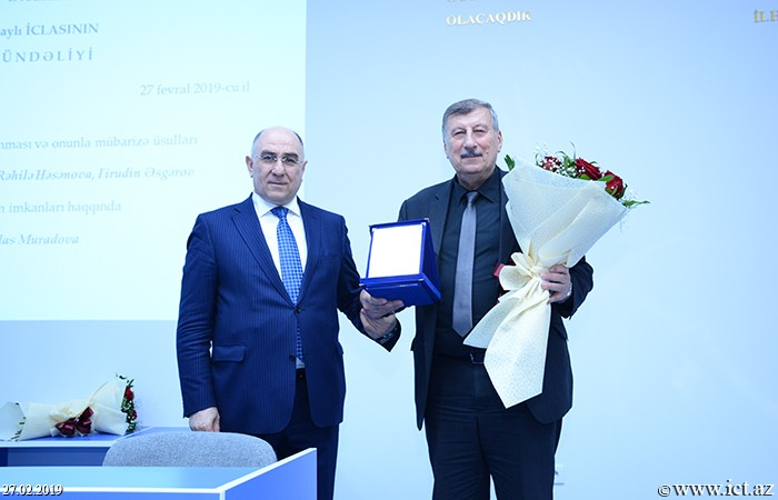 ,Assistant Director of the Institute Mahmud Valibayov awarded Honorary Certificate