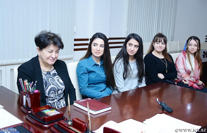 ,В институте состоялась встреча со студентами, обучающимися в группах «SABAH» Бакинского государственного университета