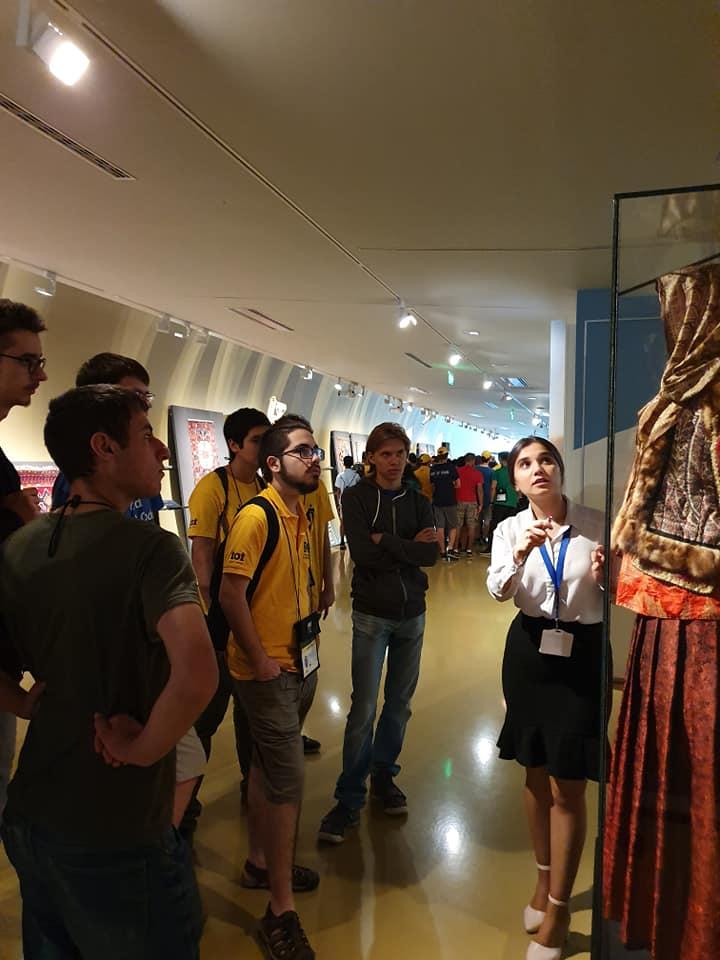 ,Participants of International  Olympiad in  Informatic svisit Azerbaijan National Carpet Museum