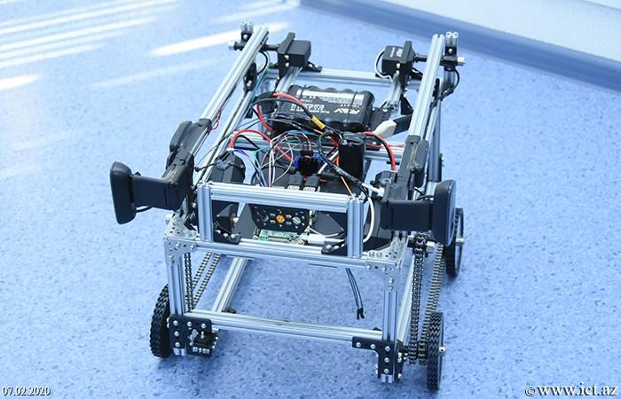 "ict.az, ikt.az, AMEA İnformasiya Texnologiyaları İnstitutu, AMEA İTİ, Институт информационных технологий, Institute of Information Technology,""İnfoMatrix-2018""in bürünc medalçısı hazırladığı yeni robotu təqdim edib"