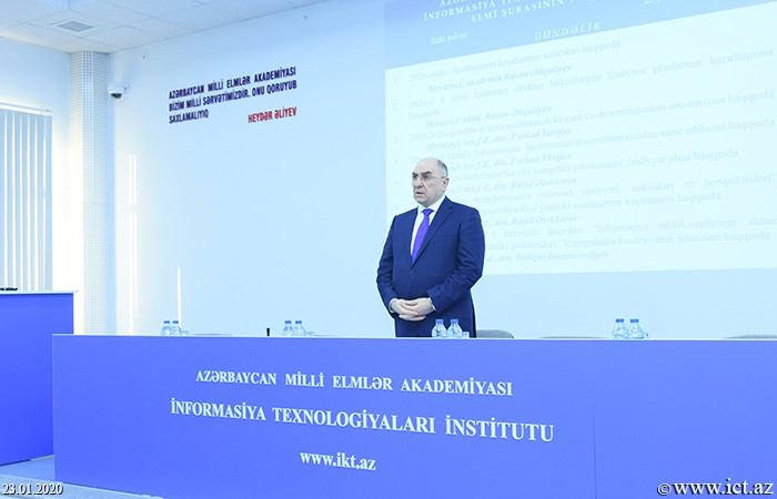 AMEA İnformasiya Texnologiyaları İnstitutu, ict.az, Rasim Əliquliyev,İnstitutun Elmi şurasının iclası keçirildi
