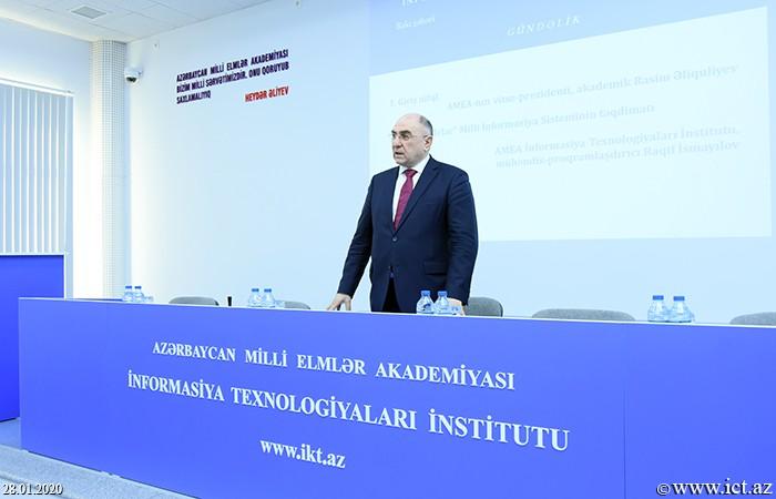 """AMEA İnformasiya Texnologiyaları İnstitutu, ict.az, Rasim Əliquliyev,Bu gündən """"Elmi kadrlar"""" Milli İnformasiya Sistemi istifadəyə verilir"""