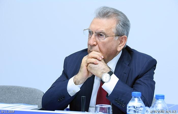 """AMEA-nın prezidenti akademik Ramiz Mehdiyev,""""İnformasiya təhlükəsizliyinin aktual multidissiplinar elmi-praktiki problemləri"""" V respublika konfransı keçirilir"""