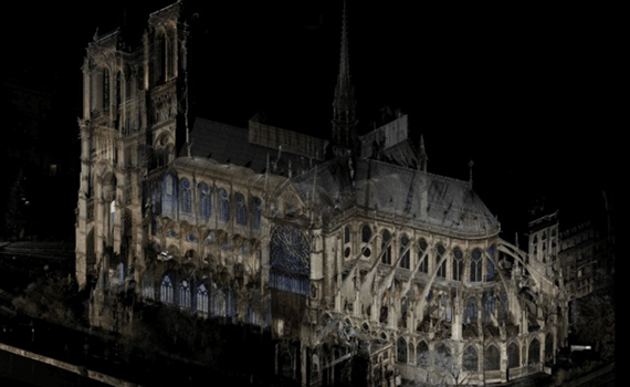 Digital scans made in 2015 will help restore the burnt down Notre Dame de Paris