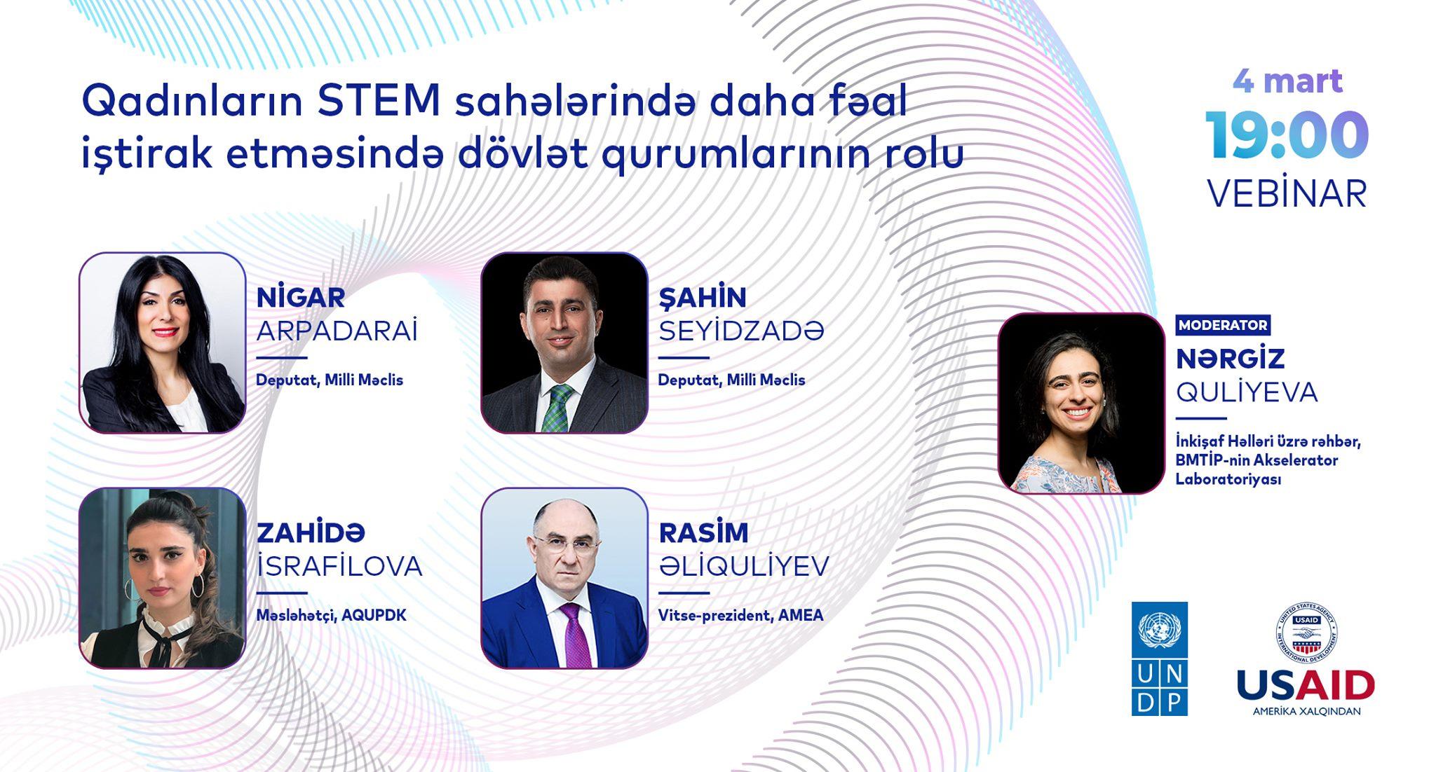 """""""Qadınlar STEM-də"""" kampaniyası çərçivəsində vebinar keçirildi"""