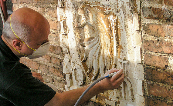 Restoration and protection of monuments with a 3D laser