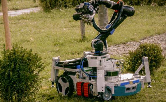 An advanced gardener robot was assembled on the basis of a regular lawn mower