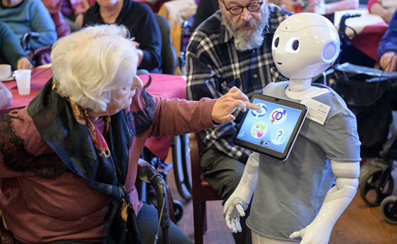 AI robots help older people