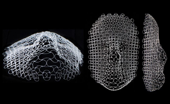 Created material that can change shape and mimic a human face