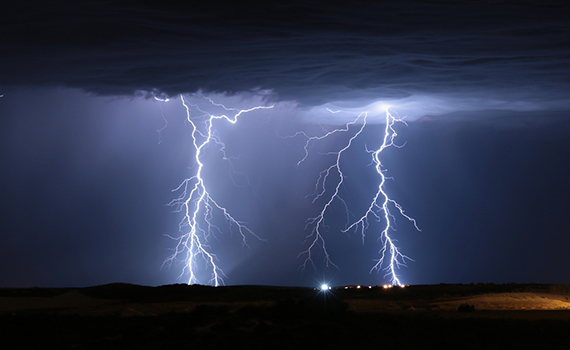 Artificial Intelligence taught to predict lightning strikes 30 seconds before an event