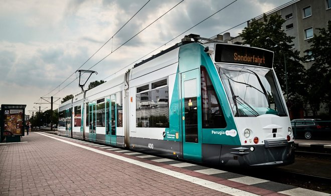 In Germany, there was the world's first tram-drones