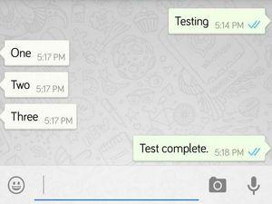 """WhatsApp""da oxunmuş mesajlar indikatoru əlçatan olub"