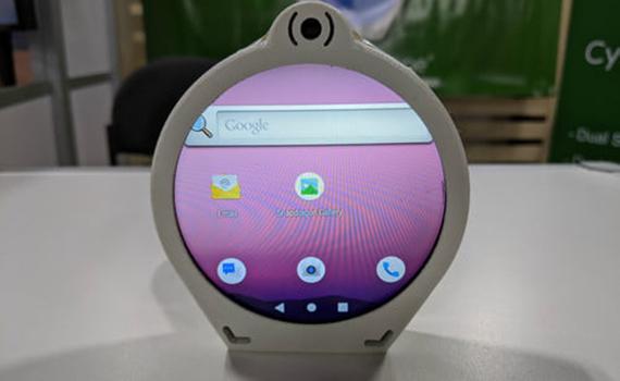 Разработан телефон в круглой форме