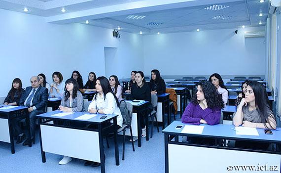 İnstitutun Tədris-İnnovasiya Mərkəzində Bakı Dövlət Universitetinin tələbələrinə təlim  keçirilib